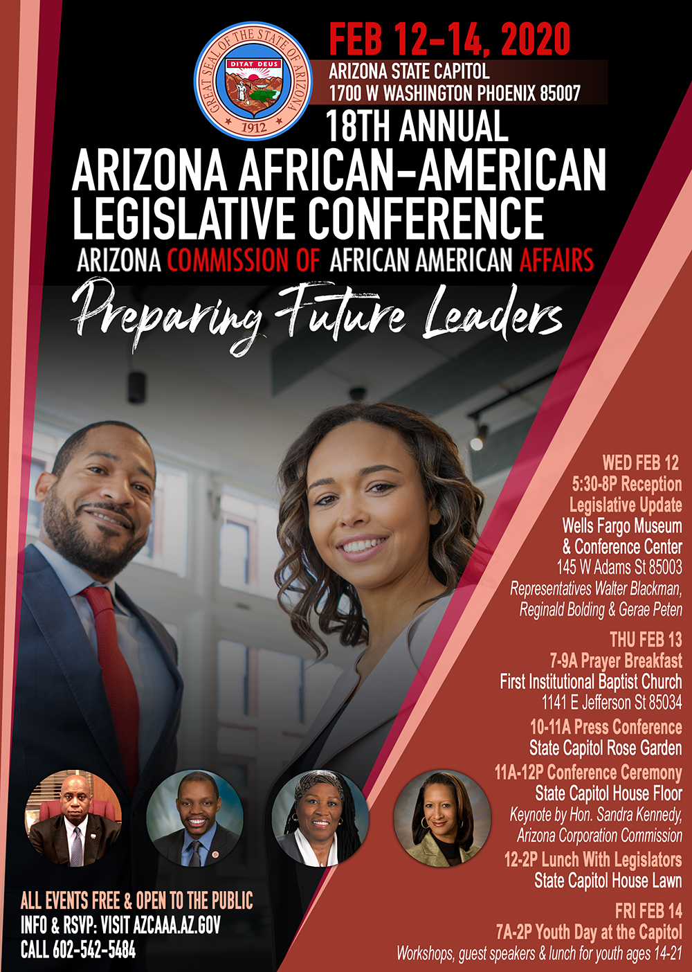 18th Annual Arizona African-American Legislative Conference Flyer