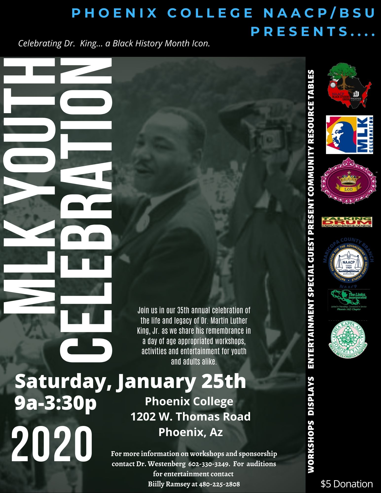 Flyer for MLK Youth Celebration
